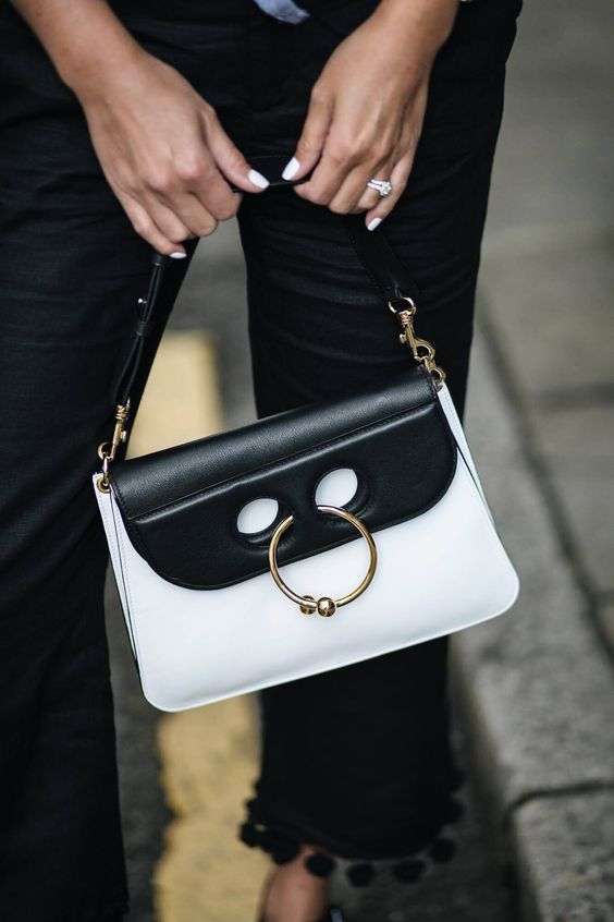EJ Style Black White J.W. Anderson Pierce Bag