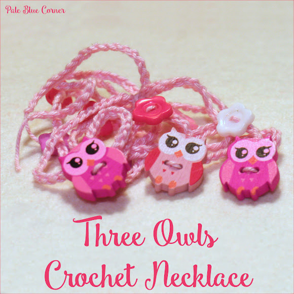 Three Owls Crochet Necklace