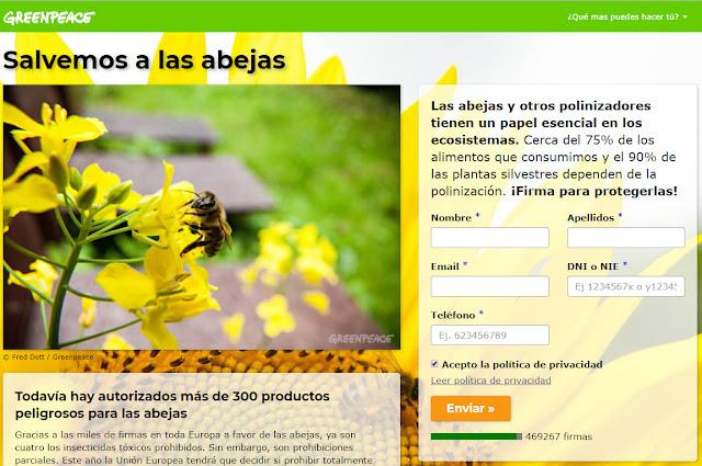 Firmar en apoyo de las abejas