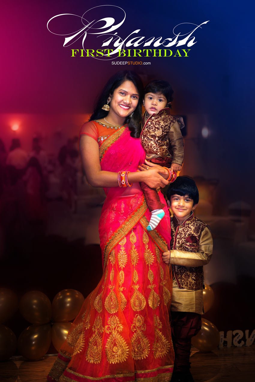1st (first) Birthday Party Photography in Novi Indian Boy - Sudeep Studio Ann Arbor Photographer