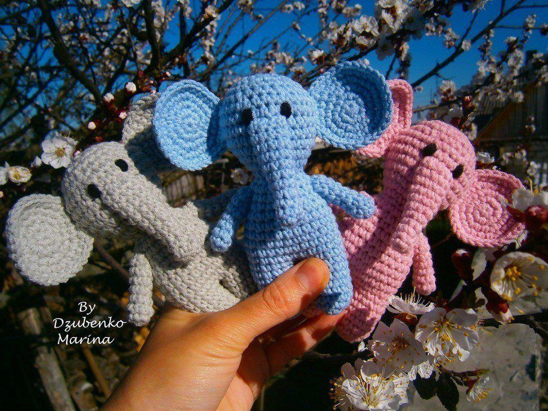 Amigurumi elephants crochet toys