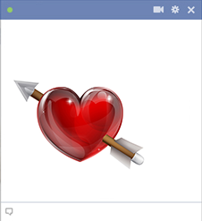 Facebook heart stabbed with arrow