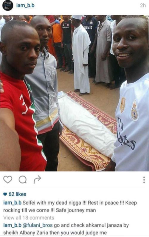 Guy Gets Blasted For Taking Selfie With His Friend's Dead Body