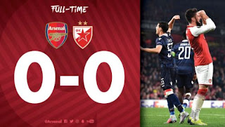 Arsenal Ditaham Imbang Red Star di Emirates Stadium - Highlight Liga Europa