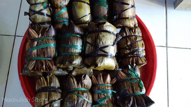Burasa'/Buras; salah satu makanan khas bugis yang disajikan tiap lebaran