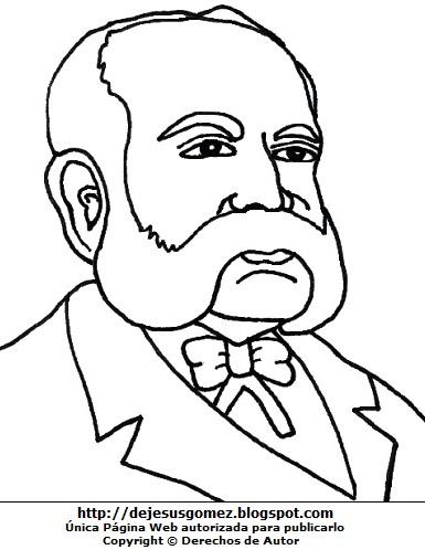 Dibujo de Miguel Grau para colorear pintar imprimir. Imagen de Miguel Grau hecho por Jesus Gómez