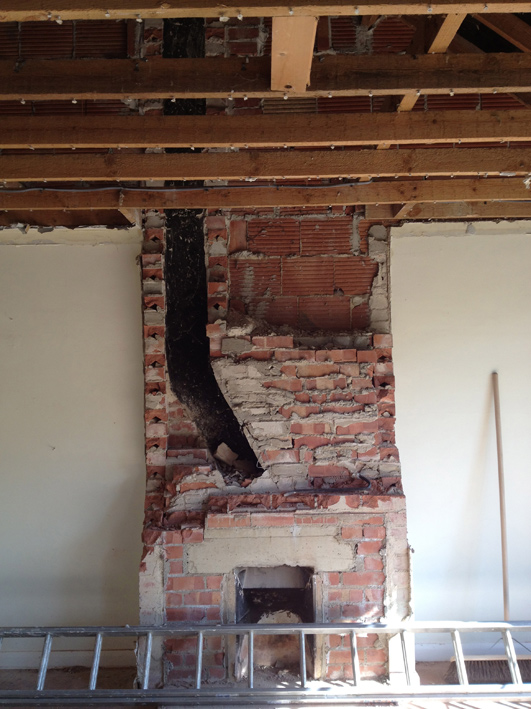 They Built The Chimney Breasts Solidly We Ve Peeled Back