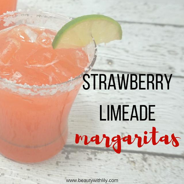 Quick & Easy Strawberry Limeade Margarita