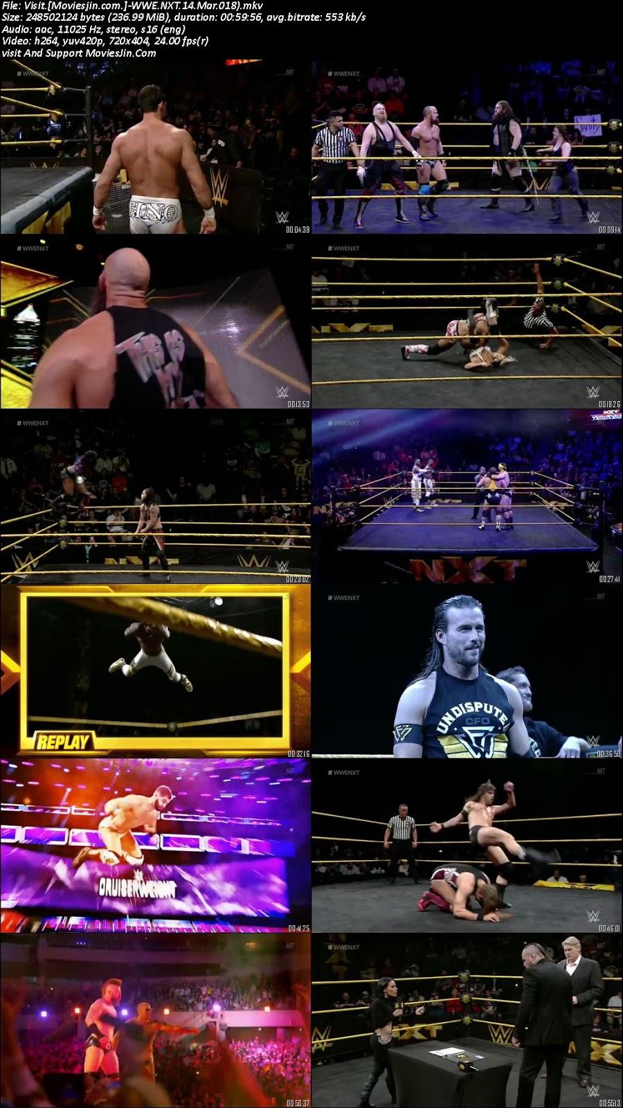 WWE NXT 14th March 2018 HD 200MB 480p WEB-Rip