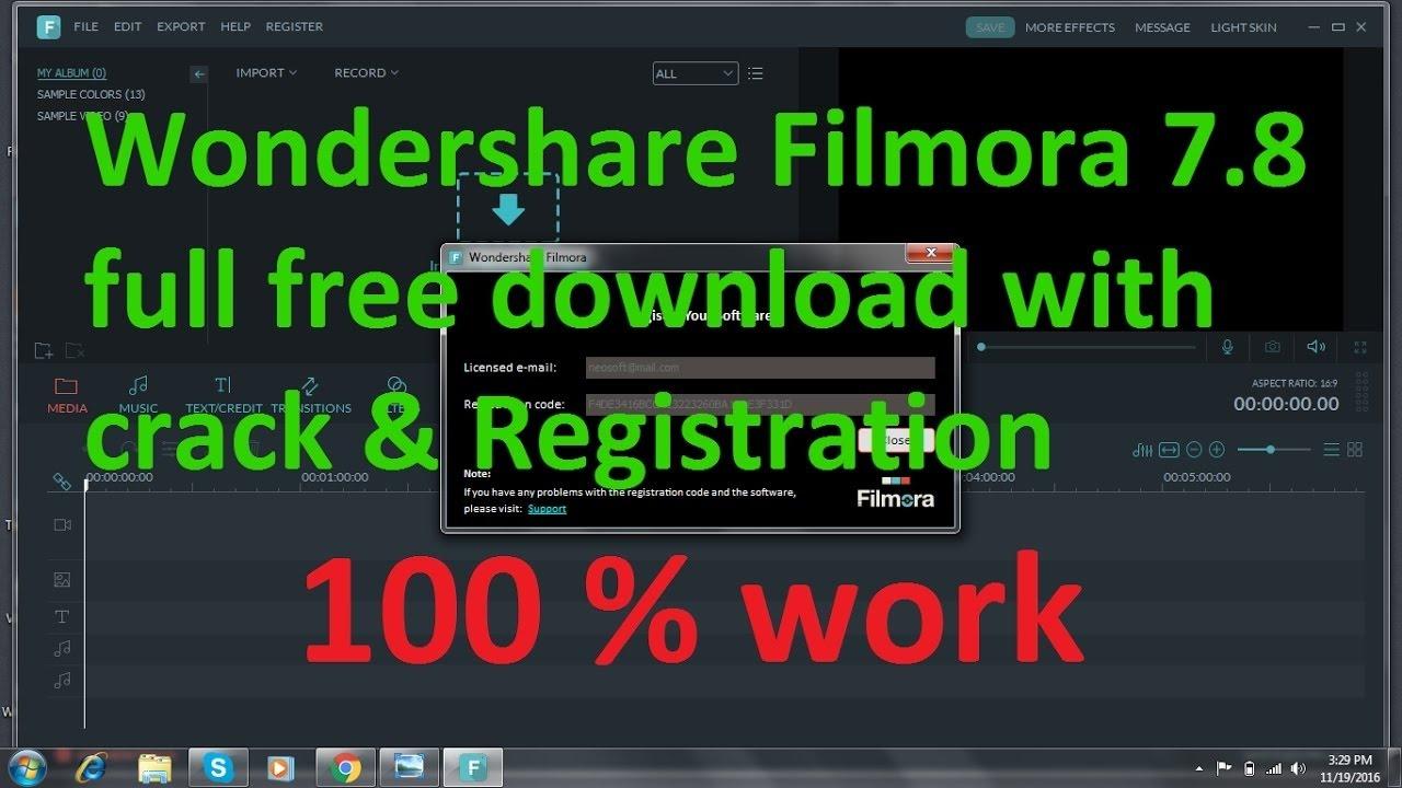 filmora 8.3 5 registration key