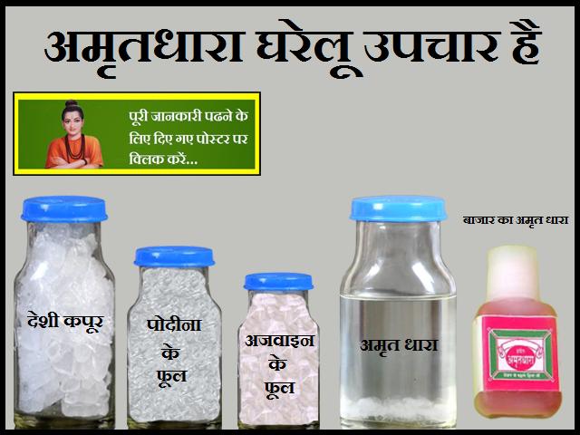 Home Remedies are Amritdhara-अमृतधारा घरेलू उपचार है