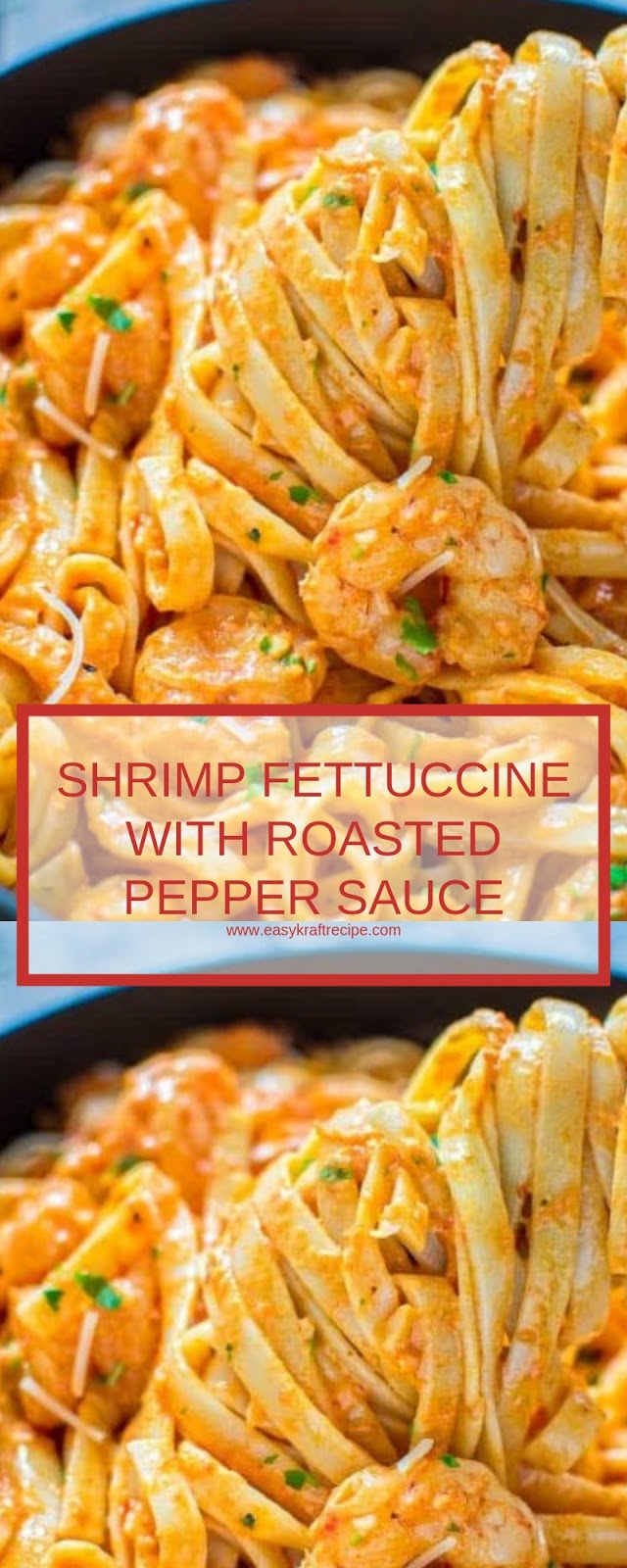 SHRIMP FETTUCCINE WITH ROASTED PEPPER SAUCE