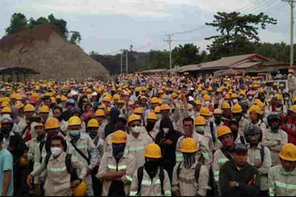 Ribuan Buruh di Morowali Mogok Kerja, Tolak Dominasi Pekerja Asing dan Tuntut Kenaikan UMSK