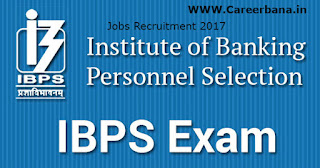 IBPS (Institute of Banking Personnel Selection) Clerical Cadre Phase VII (CRP Clerks-VII) Recruitment,Last date 3 oct 2017,ibps jobs 2017