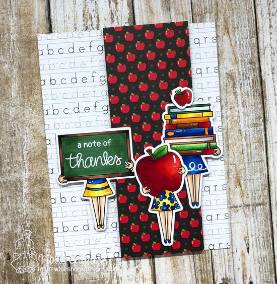 Teacher Card by Holly Endress | Classy Teachers Stamp Set by Newton's Nook Designs #newtonsnook #handmade #teachercards
