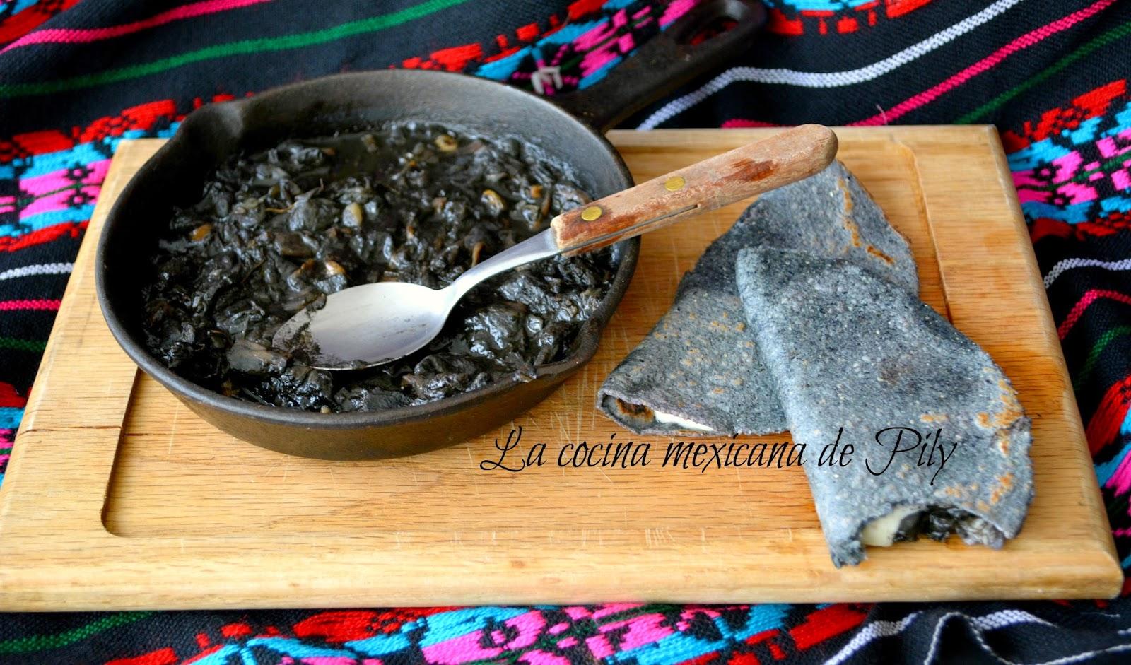 Quesadillas De Huitlacoche La Cocina Mexicana De Pily