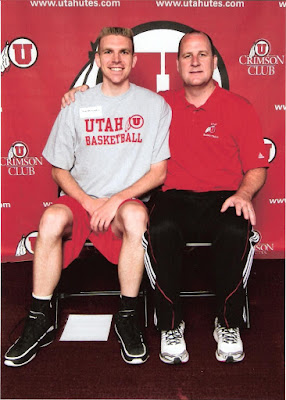 Timothy McGaffin II and Jim Boylen - University of Utah - basketball
