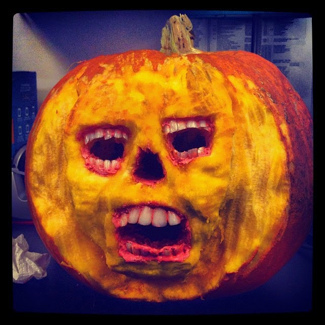 Weird Pumpkin with Teeth