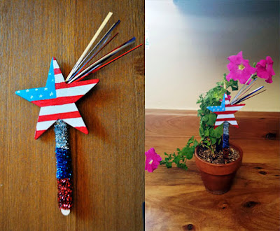 4th of July Sparkler Star Decoration
