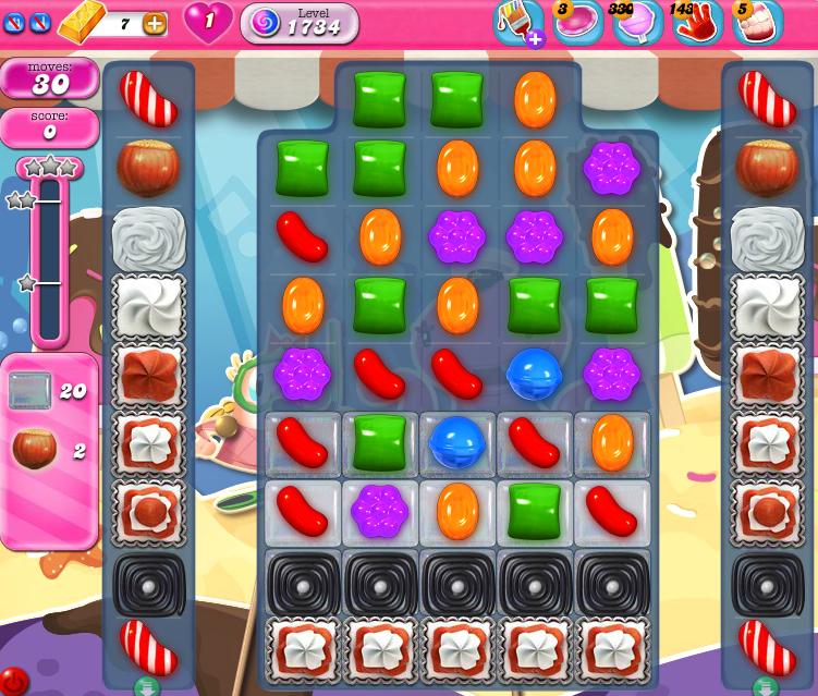 Candy Crush Saga 1734