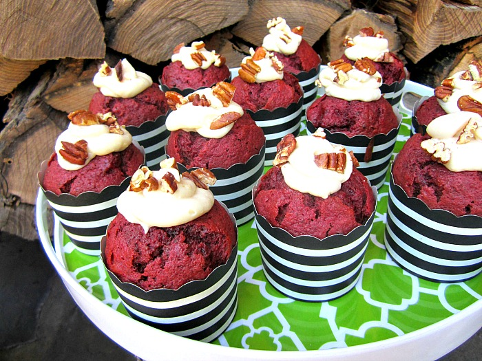 Red Velvet Cupcakes Made W/ Beets