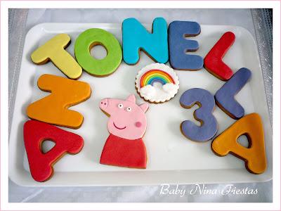 Mesa dulce peppa pig arco iris