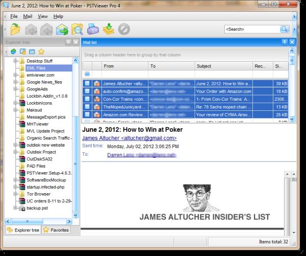Converting  eml files to Excel spreadsheet  |  Eml Viewer | Working