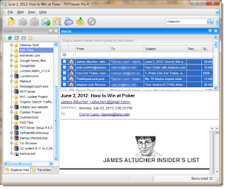 Selecting .eml file in Eml Viewer Pro.