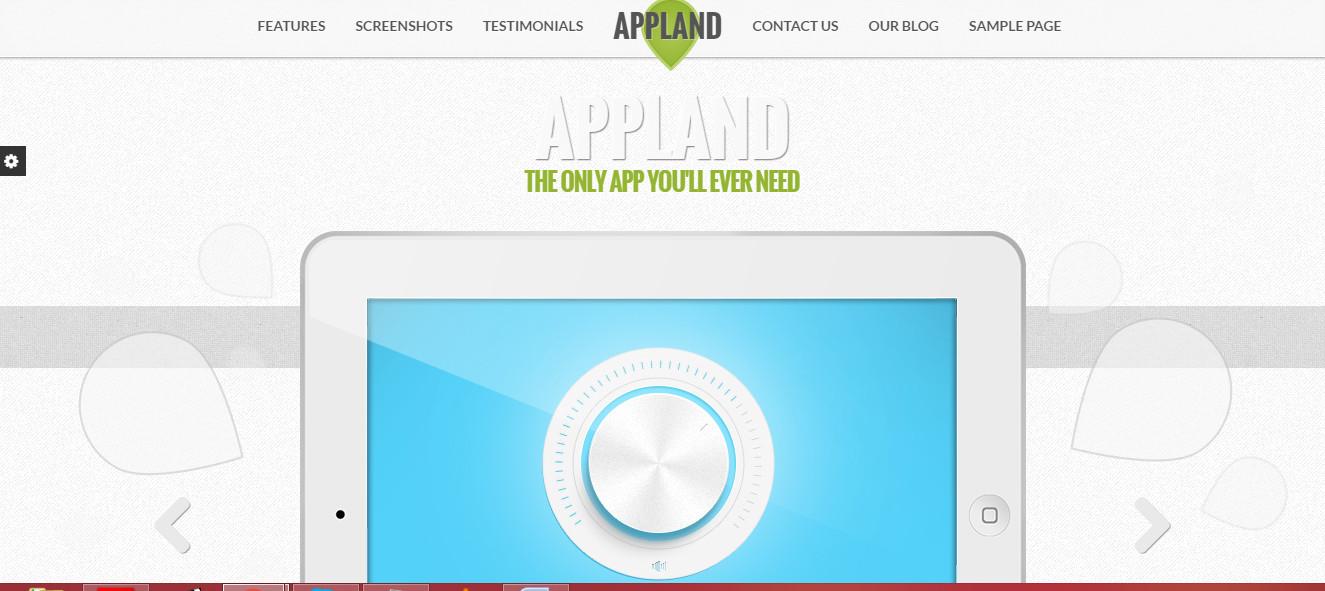 best app Landing theme for wordpress