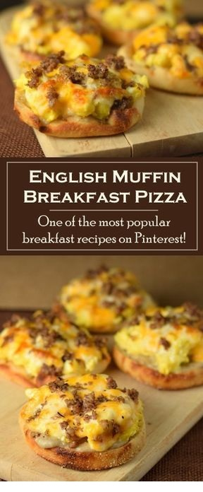 English Muffin Breakfast Pizza