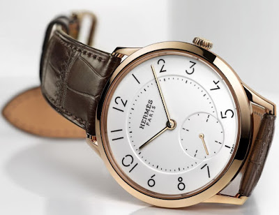 Hermès - Slim d'Hermès Email grand feu watch rose gold case
