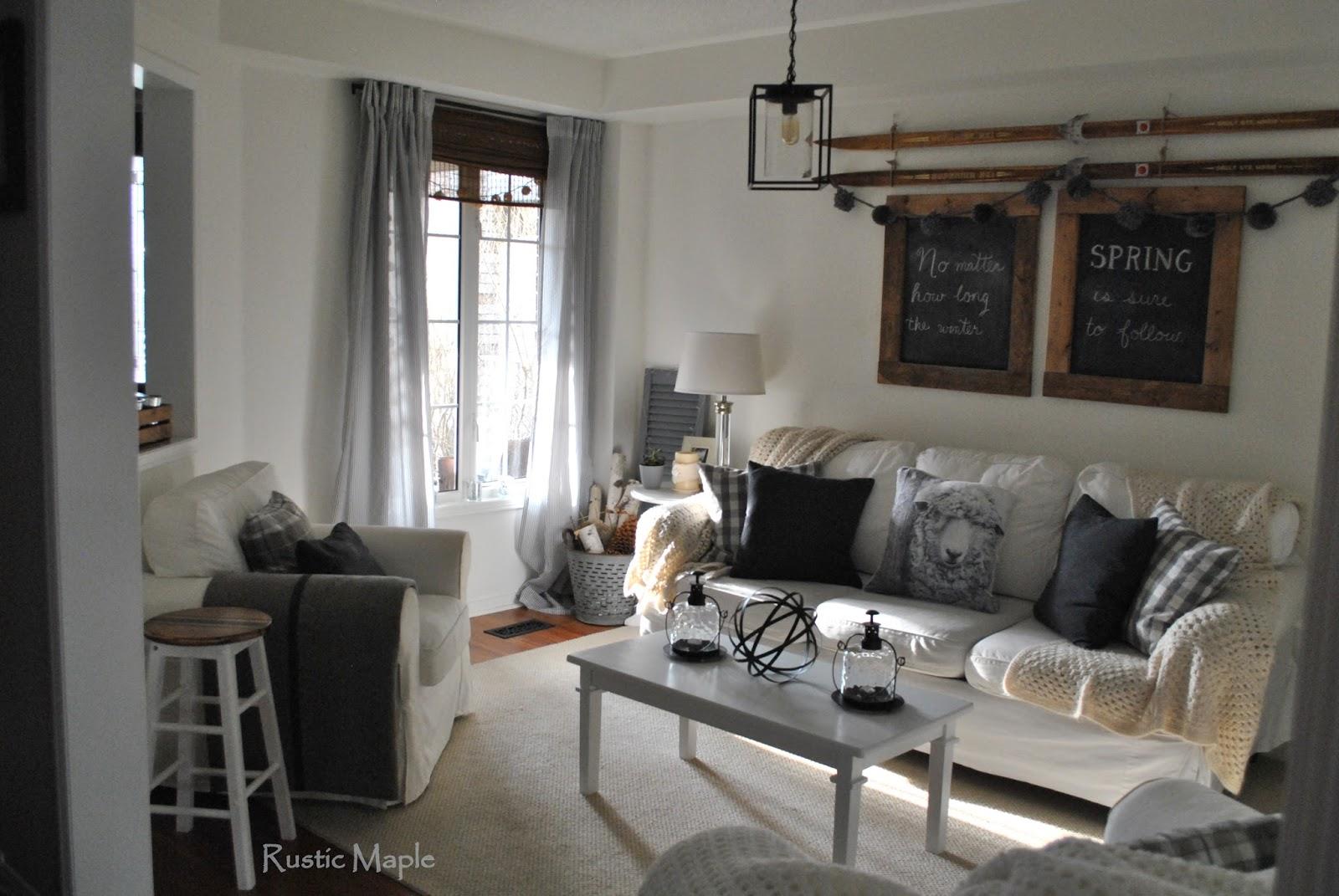 Rustic Grey Living Room