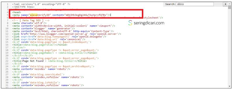 Cara Claim / Verifikasi Blog di Alexa Terbaru