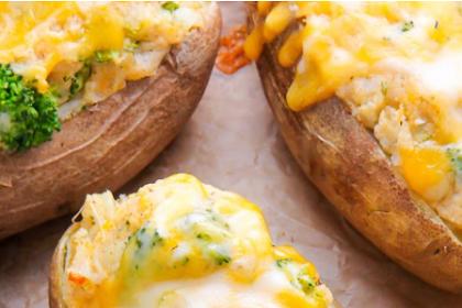 Broccoli and Cheddar Twice-Baked Potatoes
