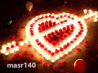 Wonderful Valentines Day Candle Decoration With Heart Shaped Candles And Cupids Dart For Wonderful Valentines Day Decorations Candles For Romantic Candlelight Dinner - 200 صور عيد الحب 2018 اجمل كوليكشن بوستات عيد الحب للاحباب والمخطوبين