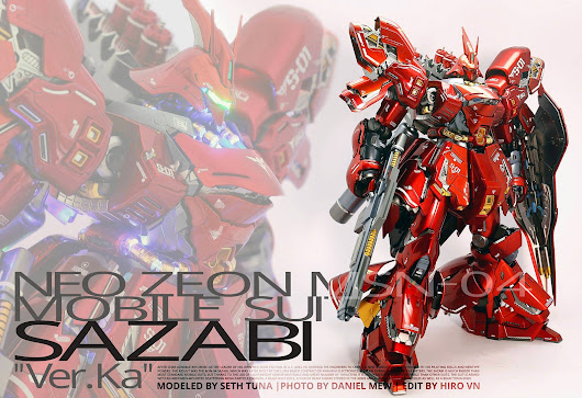 MSN-04 Sazabi ver Ka Full Metallic Full Led by Seth Tuna