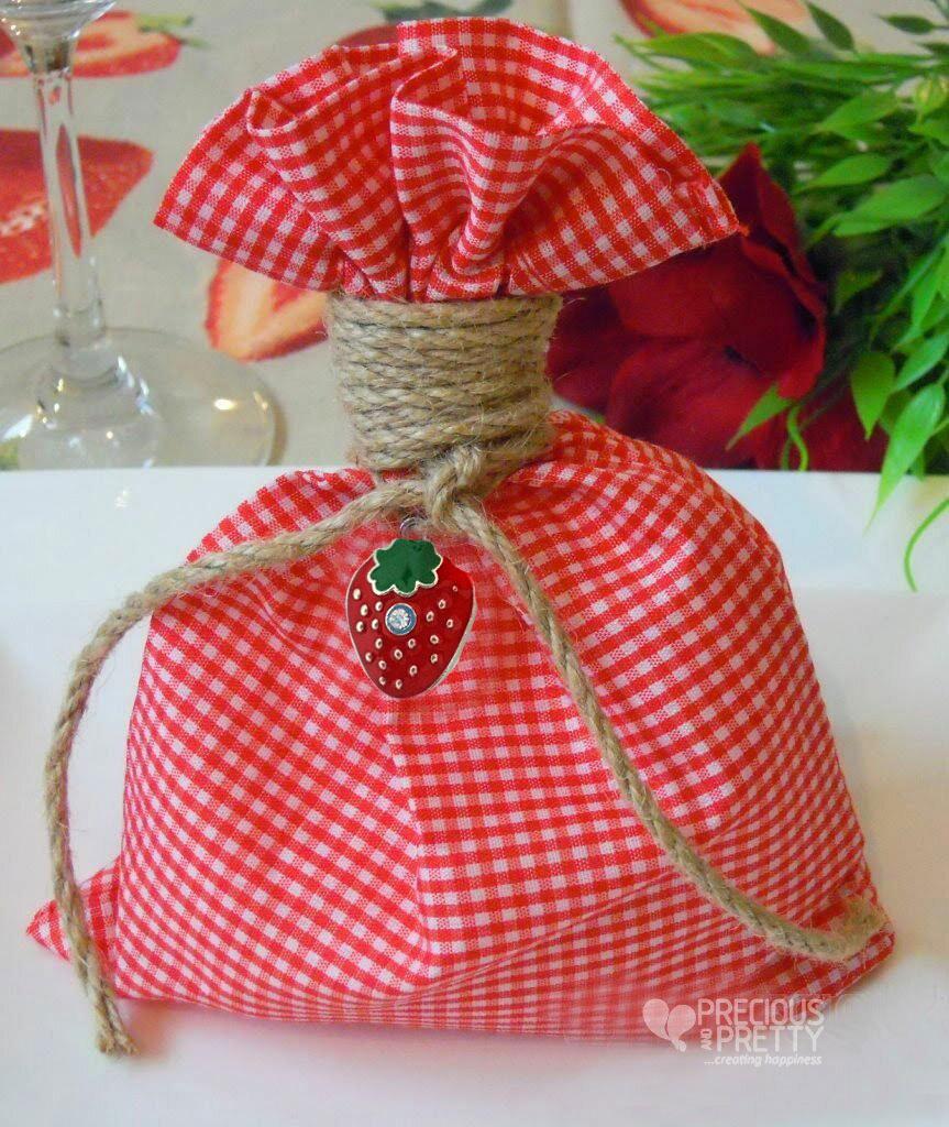 Christening favors strawberry themed