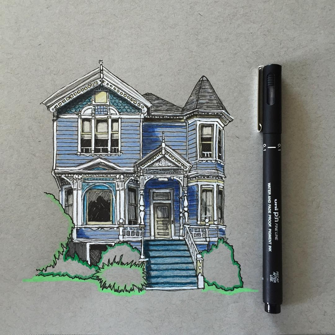 07-Victorian-House-Phoebe-Atkey-Urban-Sketcher-Architectural-Building-Drawings-www-designstack-co