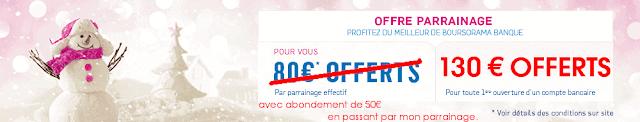 180€ offerts pour offre parrainage Boursorama