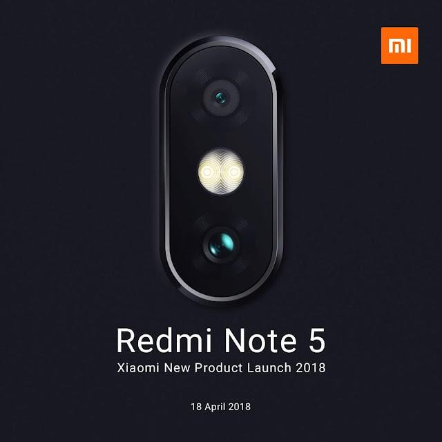 Redmi Note 5 Hadir Dengan Dual Camera