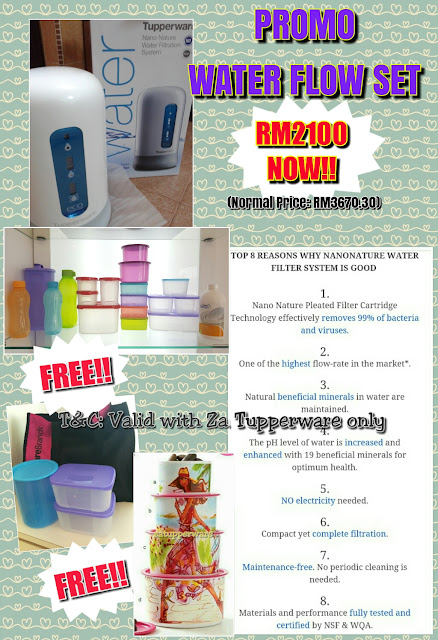 Tupperware Nano Nature WaterFlow Set Promo (22nd - 30th March 2017)