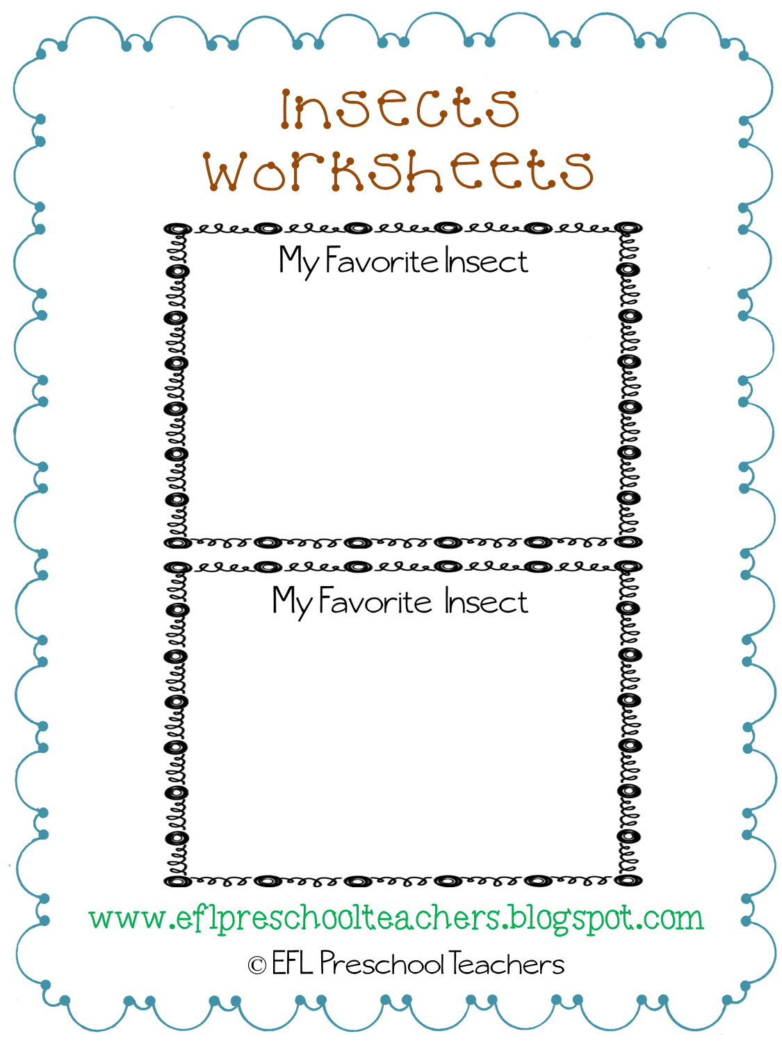 insect templates 100 images esl efl preschool teachers