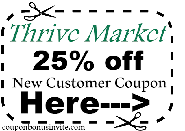 25% off Thrive Market New Customer Coupon Code 2018, Jan, Feb, Mar, April, May