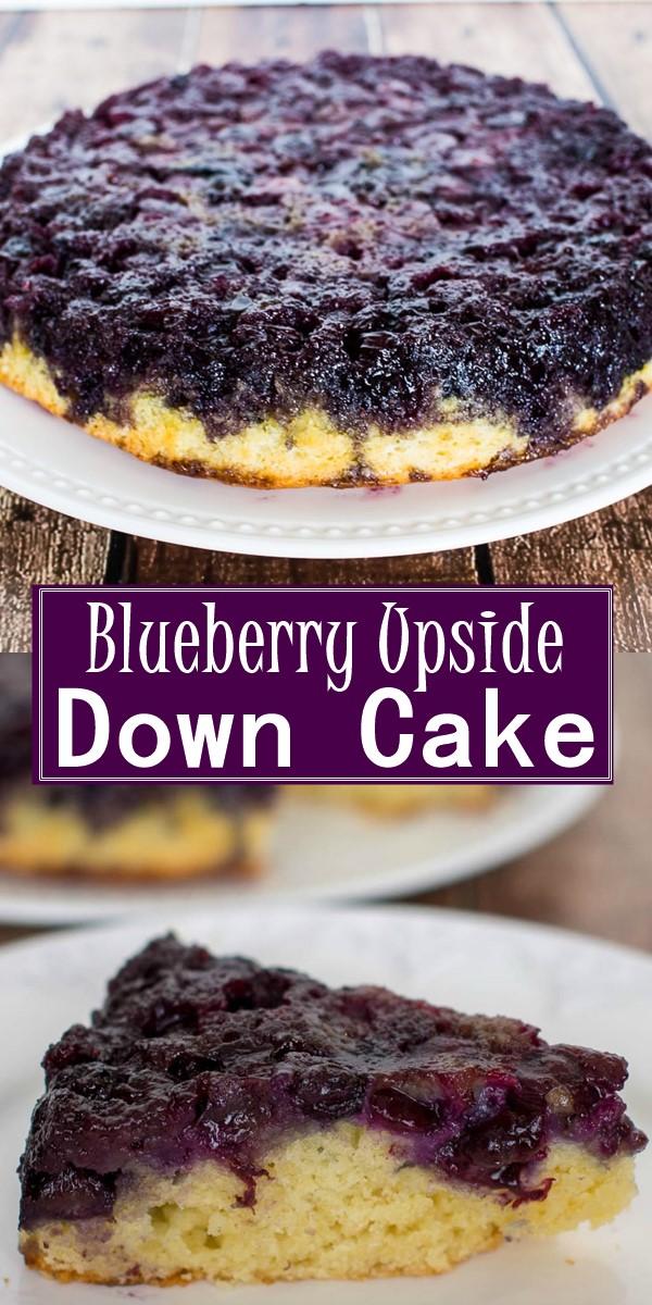 Blueberry Upside Down Cake #Cakerecipes