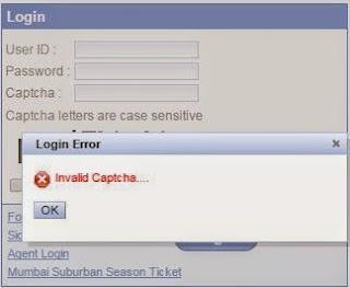 invalid captcha