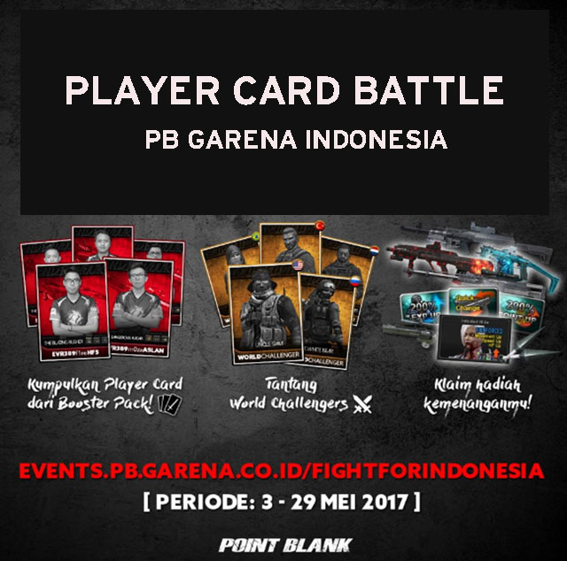 Event PB Garena Player Card Battle