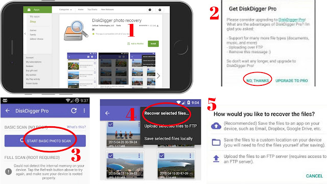 DiskDigger photo recovery for android