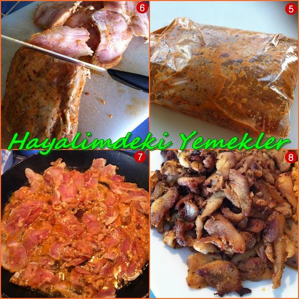 Evde Döner kebab tarifi,evde kebab nasıl yapılır,resimli ve detayli anlatim