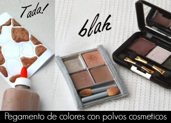 Como hacer Pegamento de Colores con Polvos Cosmeticos
