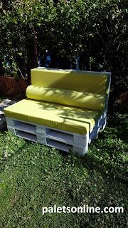 sofá con palets 120x80 mueblesconpalets.com